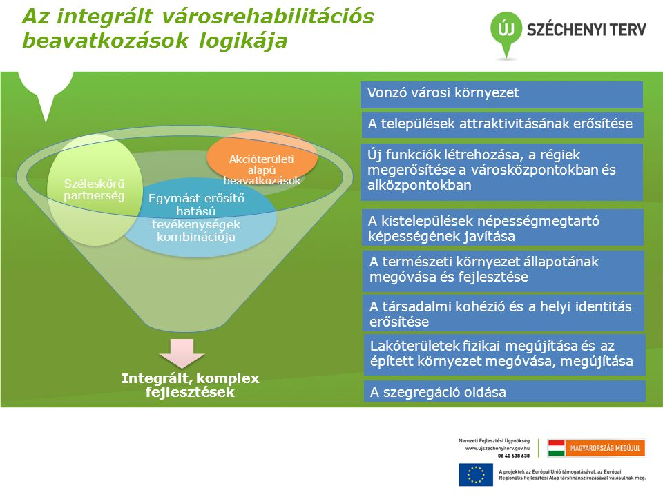 Integrált, komplex fejlesztések