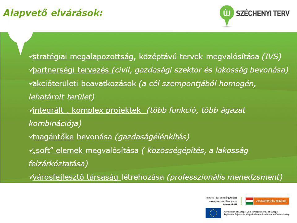 Alapvető elvárások: stratégiai megalapozottság, középtávú tervek megvalósítása (IVS)