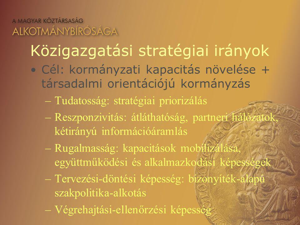 Közigazgatási stratégiai irányok