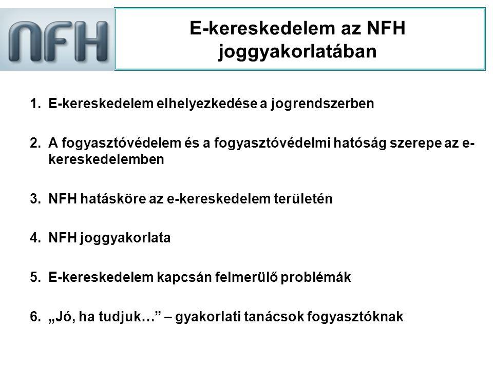 E-kereskedelem az NFH joggyakorlatában