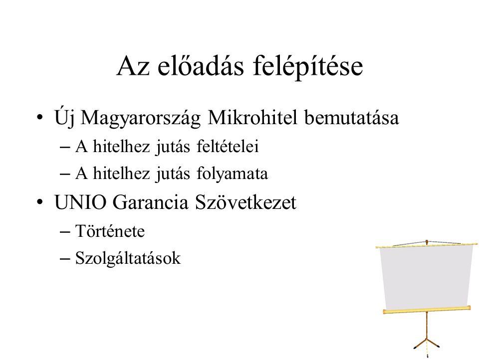Az előadás felépítése Új Magyarország Mikrohitel bemutatása
