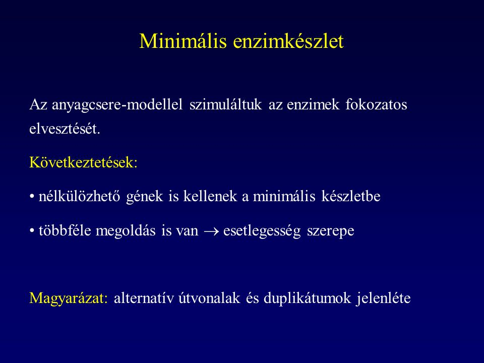 Minimális enzimkészlet
