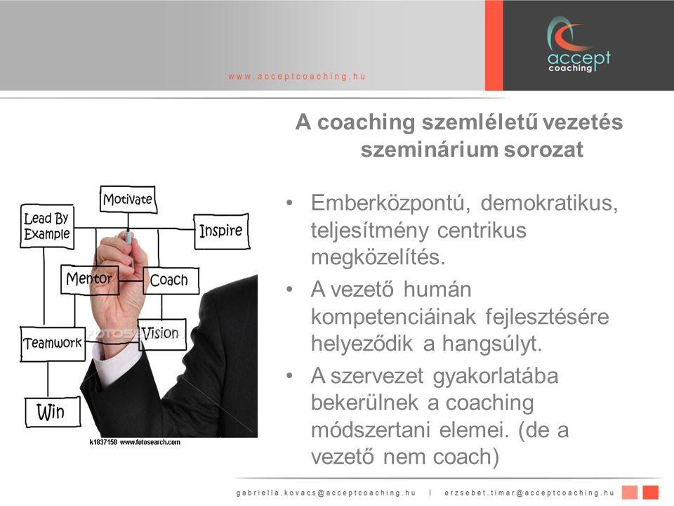A coaching szemléletű vezetés szeminárium sorozat