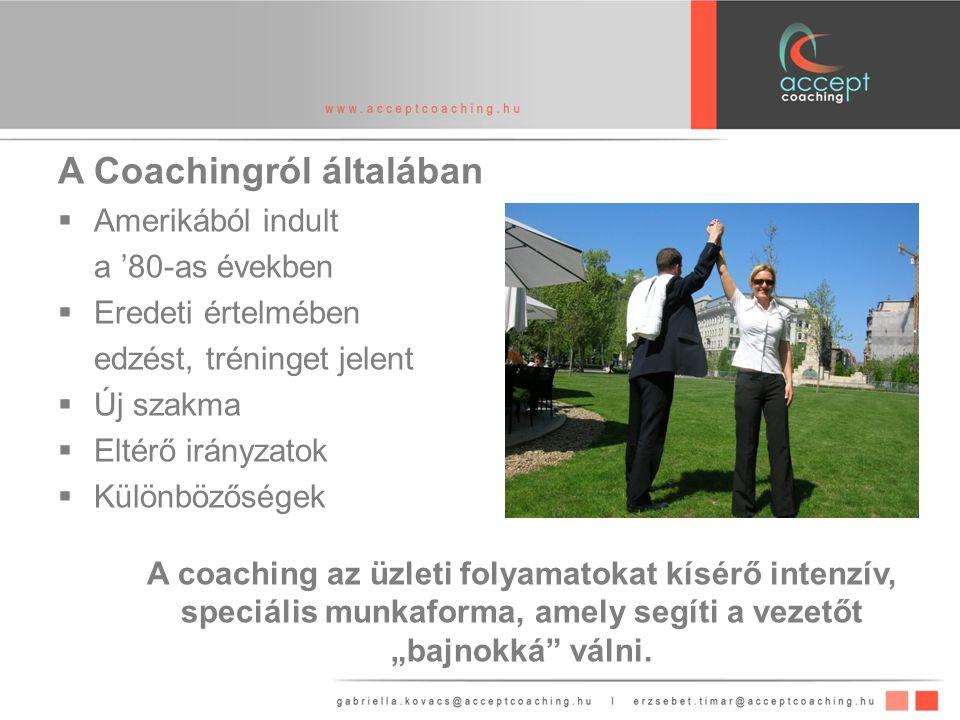 A Coachingról általában