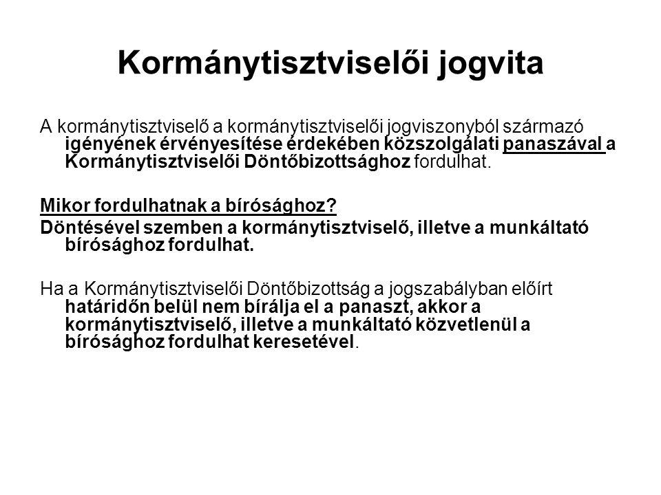 Kormánytisztviselői jogvita