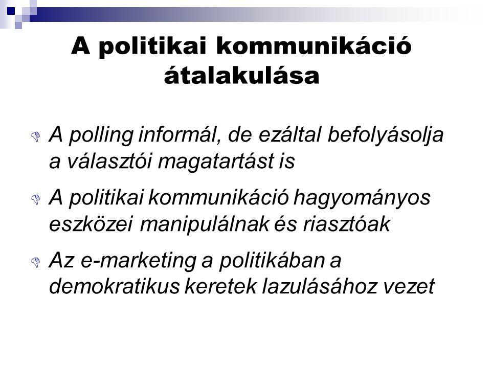 A politikai kommunikáció átalakulása