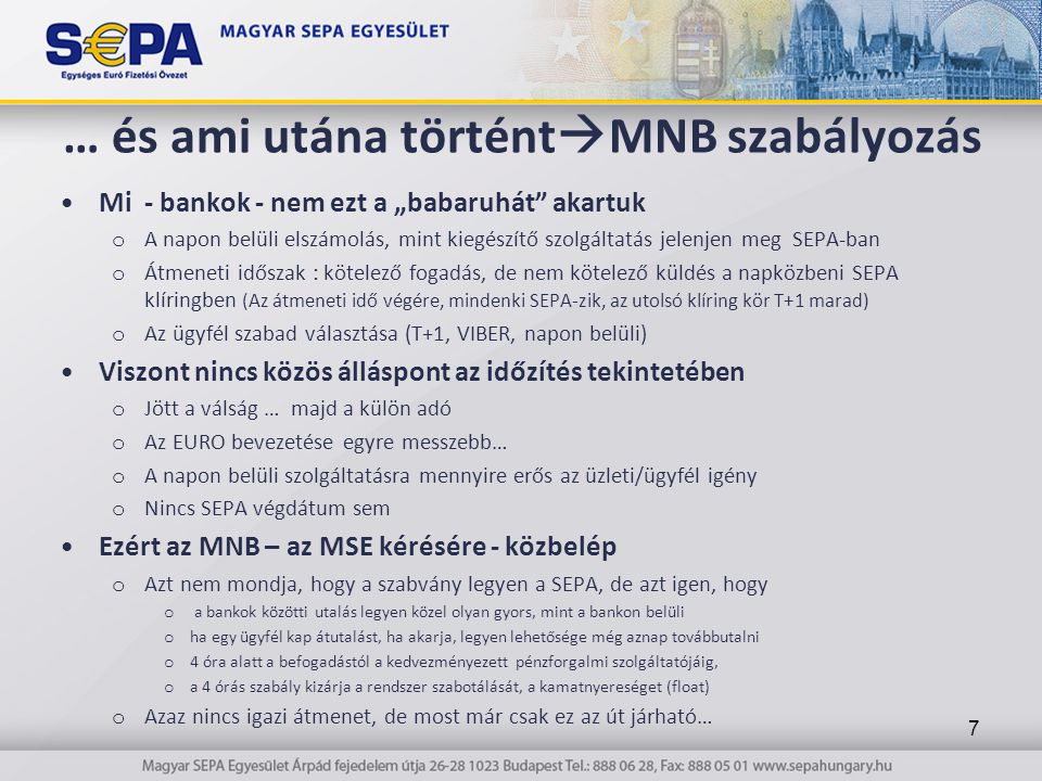 … és ami utána történtMNB szabályozás