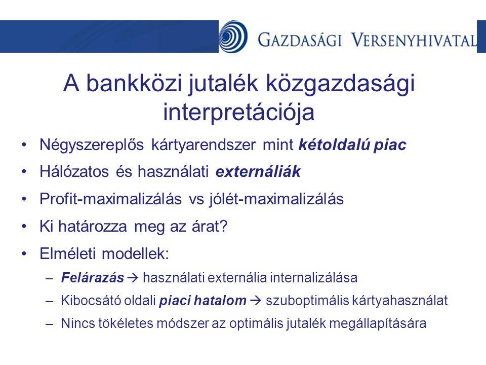 A bankközi jutalék közgazdasági interpretációja
