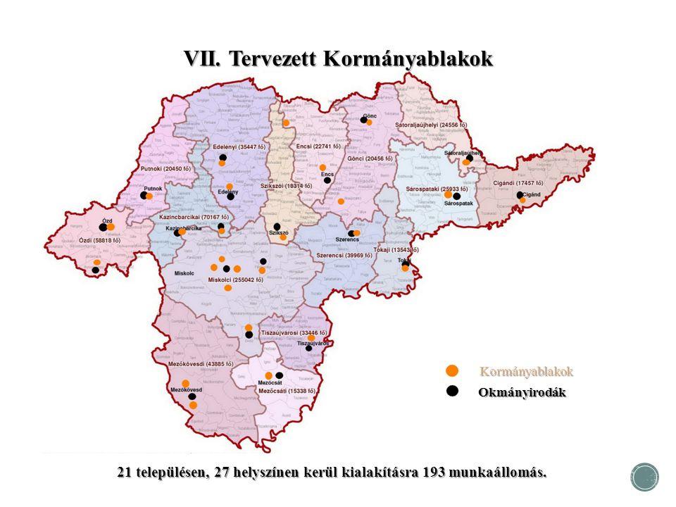 21 településen, 27 helyszínen kerül kialakításra 193 munkaállomás.