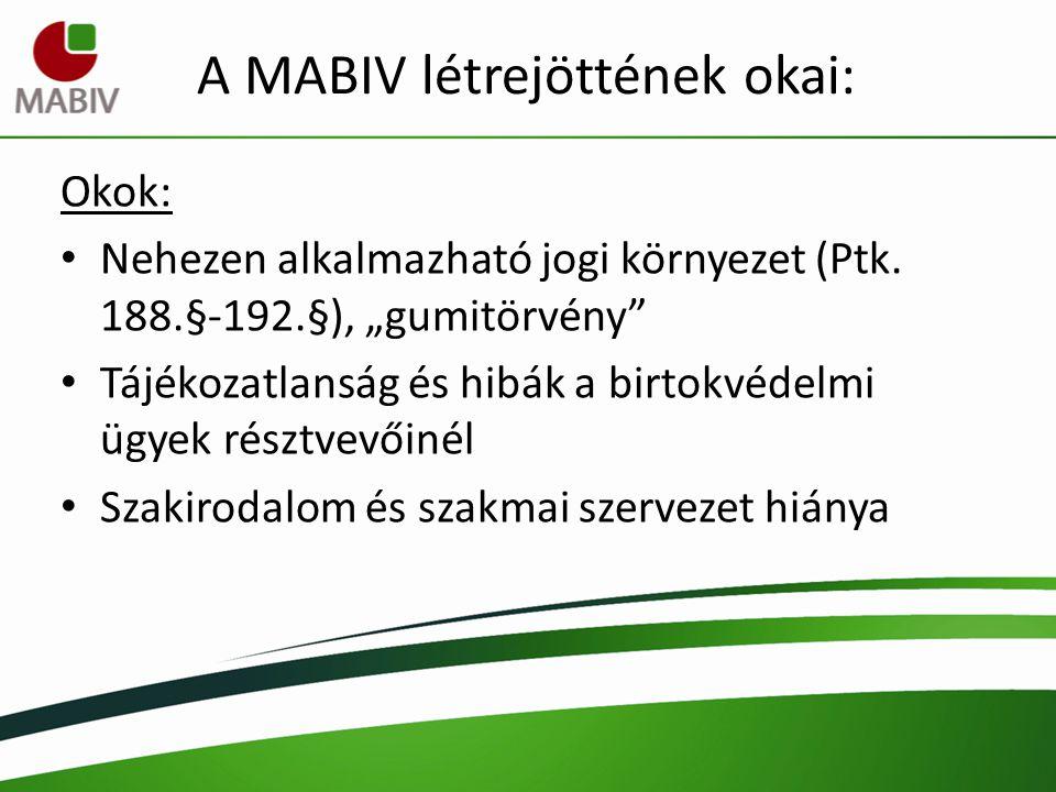 A MABIV létrejöttének okai:
