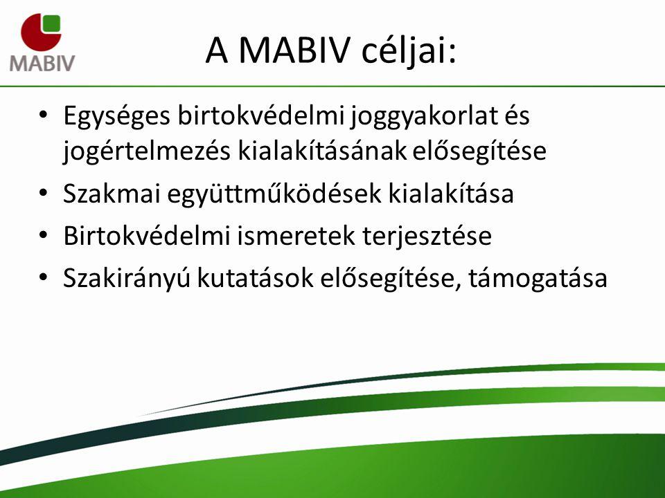 A MABIV céljai: Egységes birtokvédelmi joggyakorlat és jogértelmezés kialakításának elősegítése. Szakmai együttműködések kialakítása.