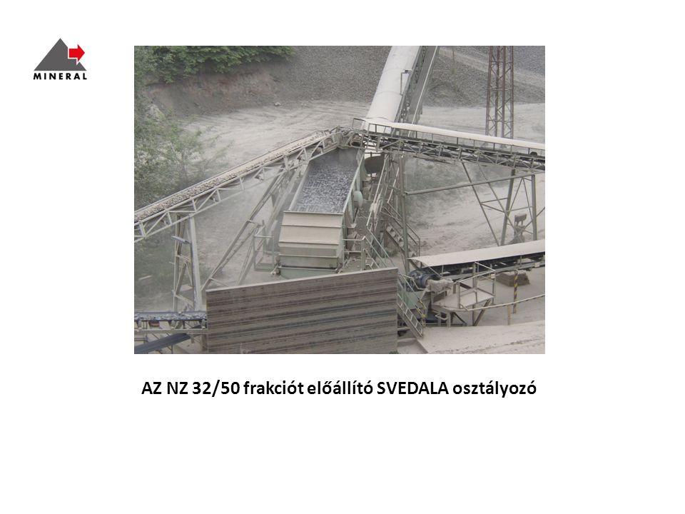 AZ NZ 32/50 frakciót előállító SVEDALA osztályozó