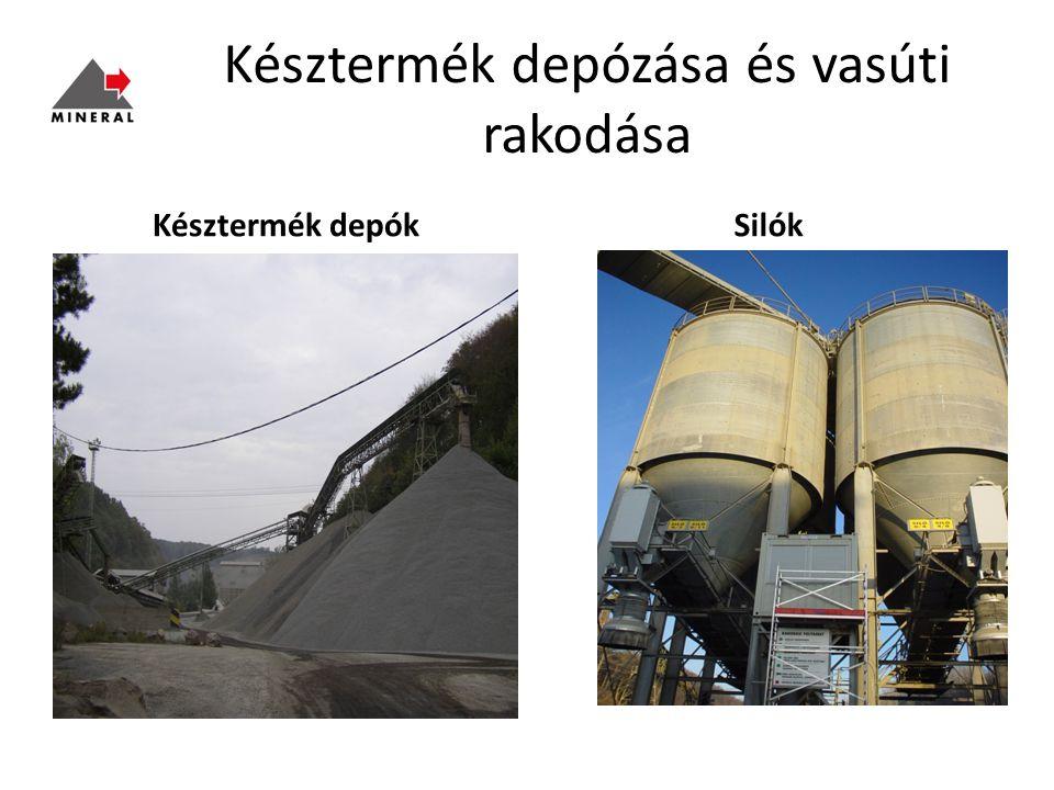 Késztermék depózása és vasúti rakodása