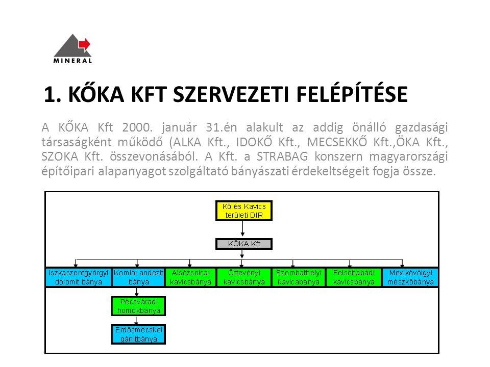 1. KŐKA Kft szervezeti felépítése
