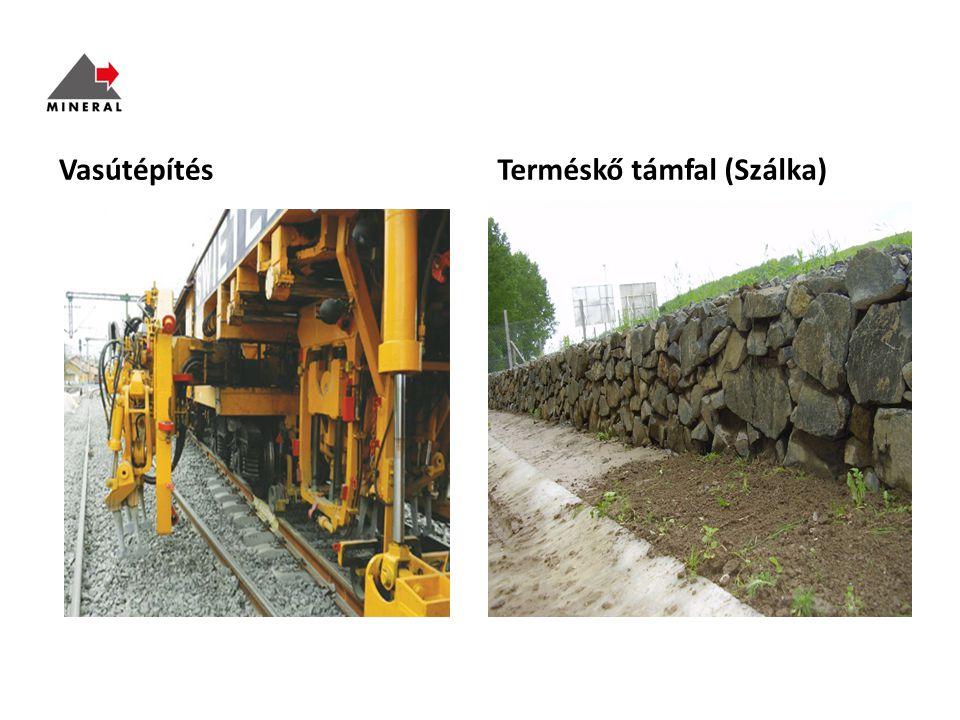 Vasútépítés Terméskő támfal (Szálka)