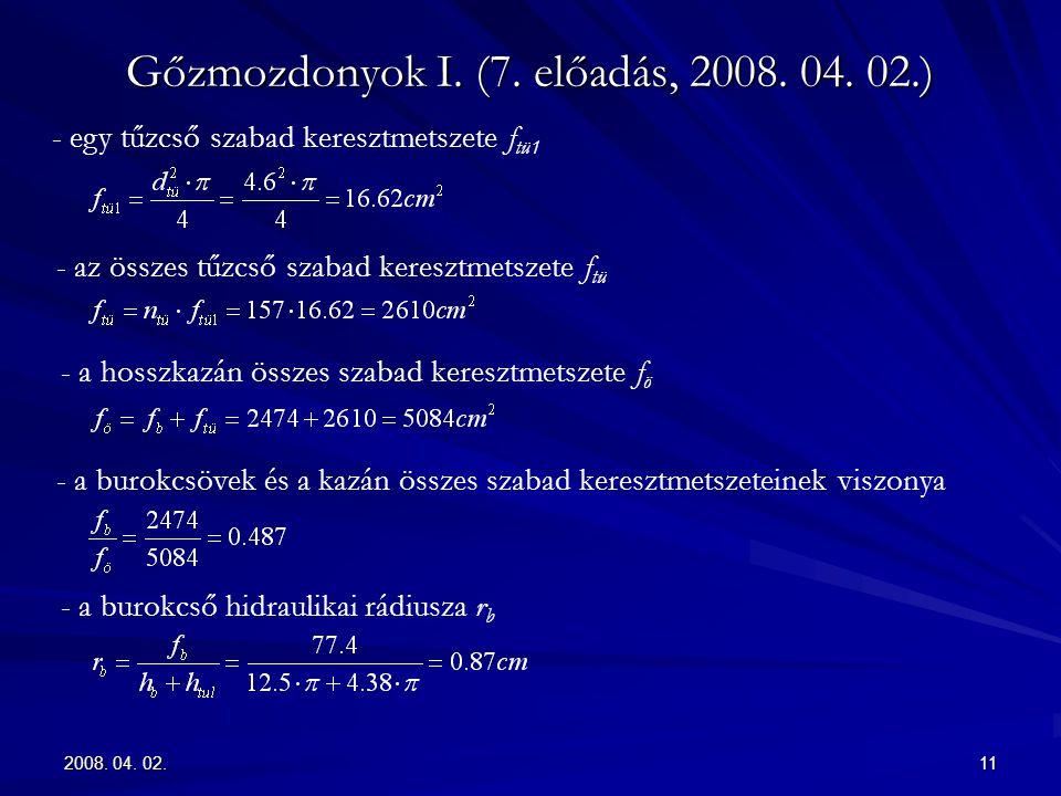 Gőzmozdonyok I. (7. előadás, 2008. 04. 02.)