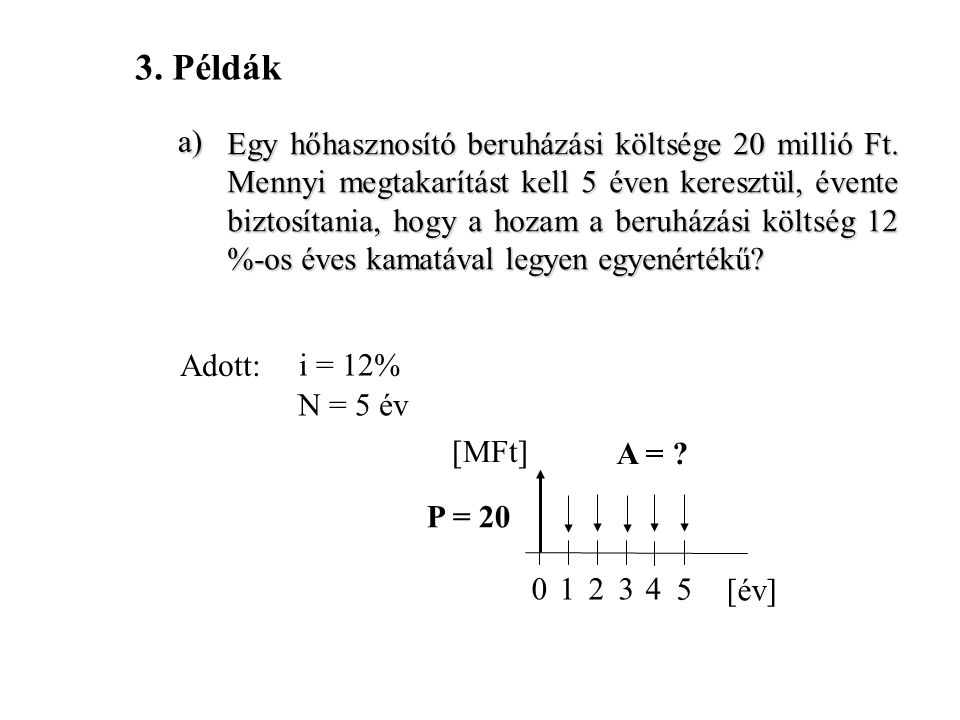 3. Példák a)