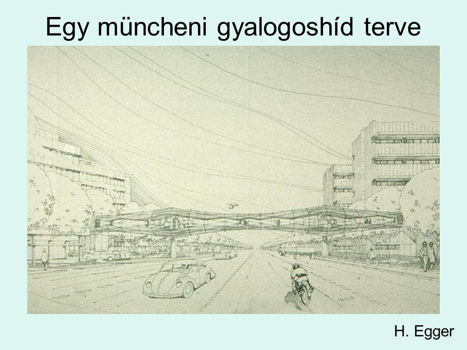 Egy müncheni gyalogoshíd terve