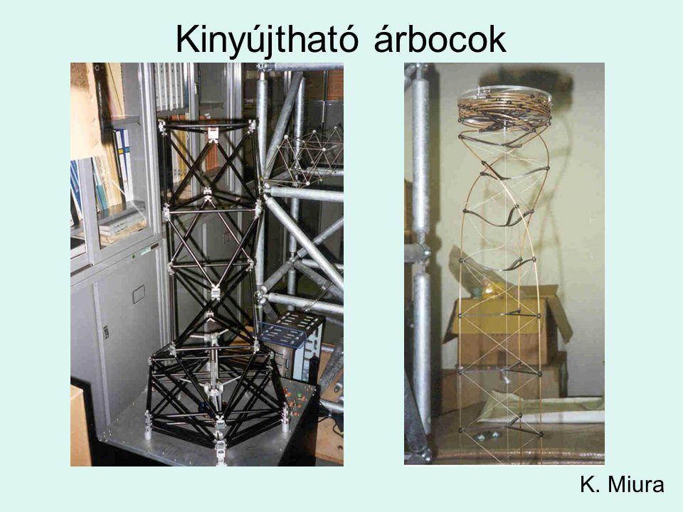 Kinyújtható árbocok K. Miura