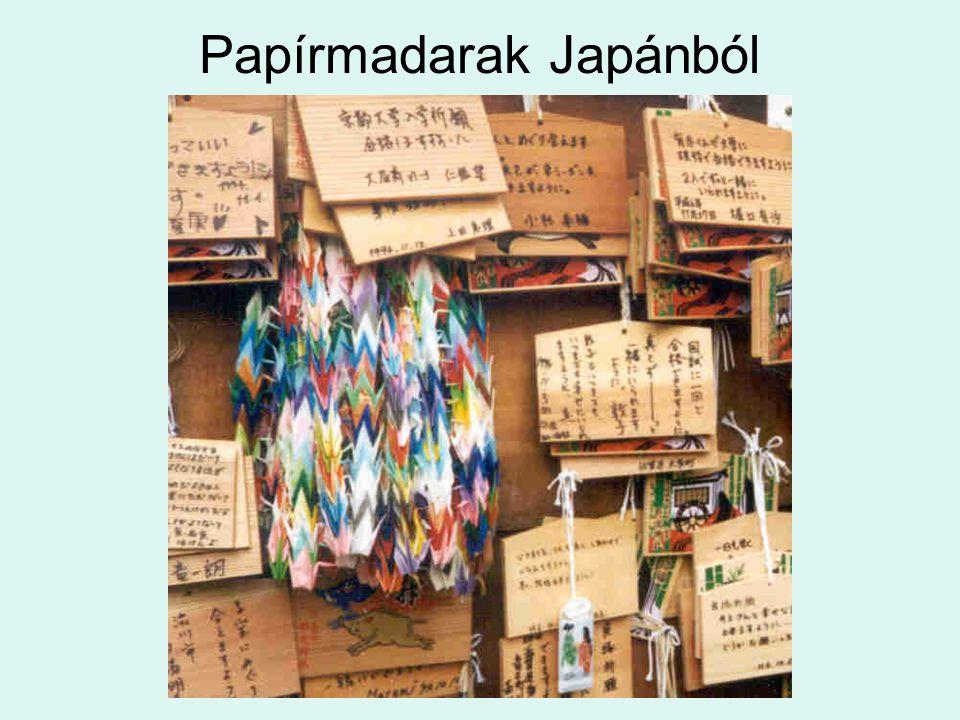 Papírmadarak Japánból