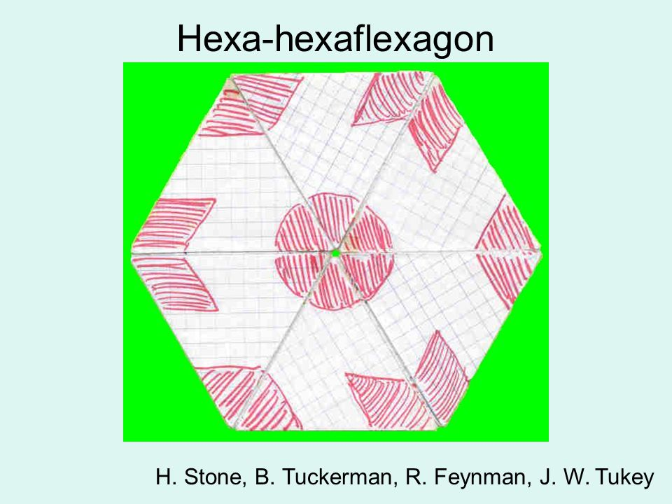 Hexa-hexaflexagon H. Stone, B. Tuckerman, R. Feynman, J. W. Tukey
