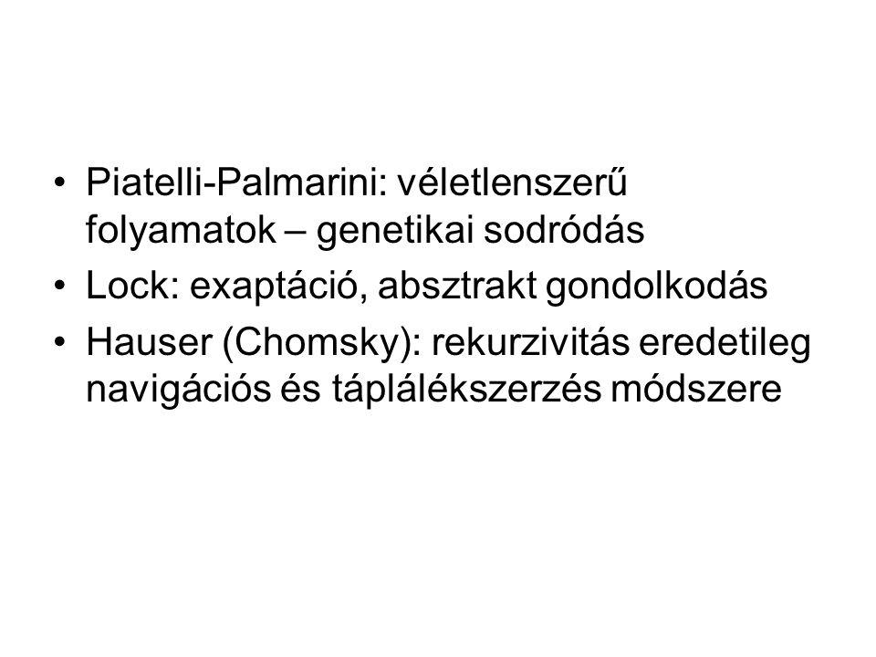 Piatelli-Palmarini: véletlenszerű folyamatok – genetikai sodródás