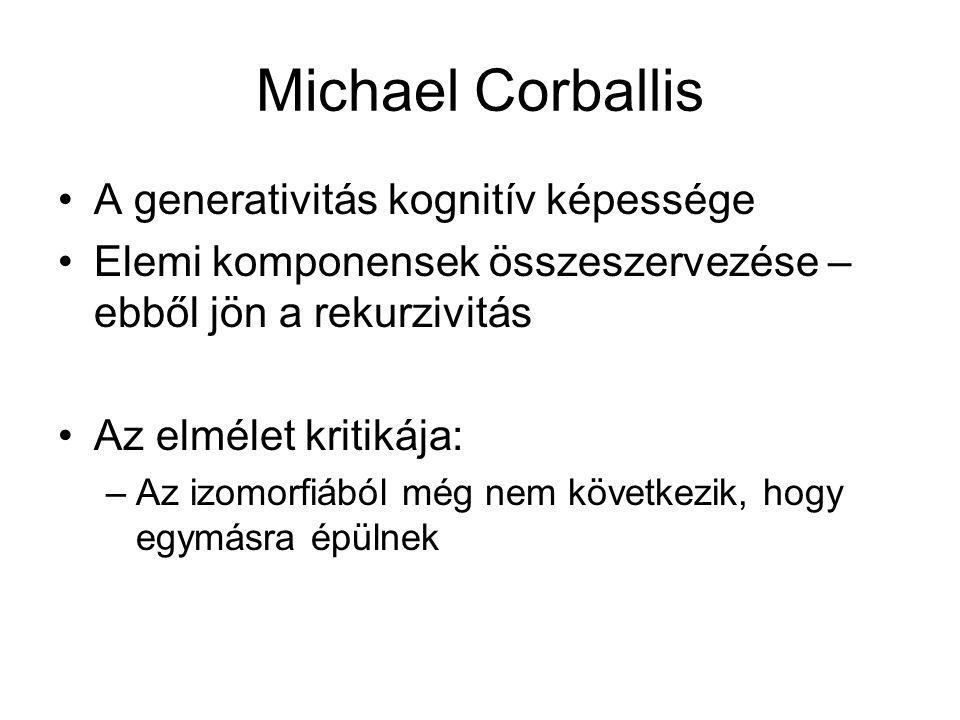 Michael Corballis A generativitás kognitív képessége