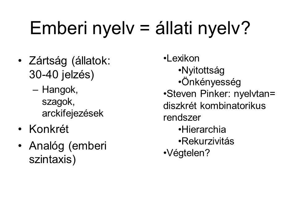 Emberi nyelv = állati nyelv