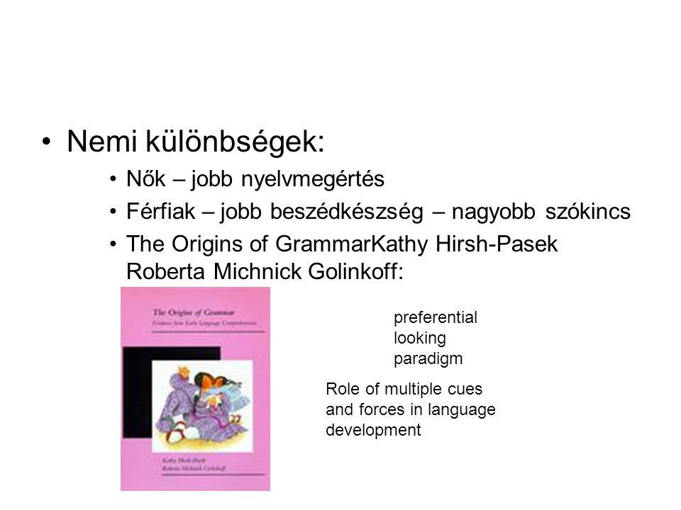 Nemi különbségek: Nők – jobb nyelvmegértés