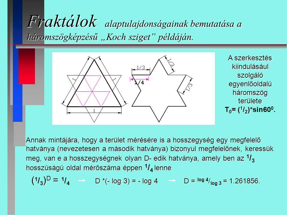 A szerkesztés kiindulásául szolgáló egyenlőoldalú háromszög területe