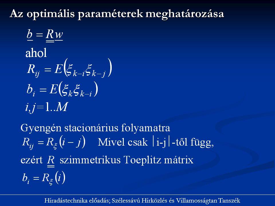 Az optimális paraméterek meghatározása
