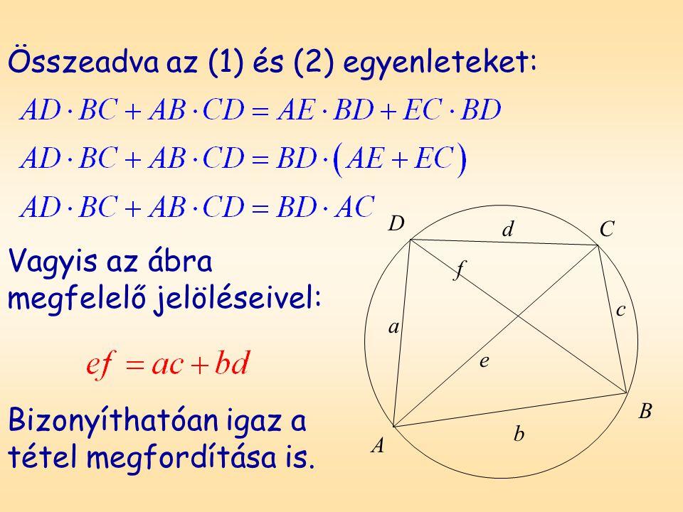 Összeadva az (1) és (2) egyenleteket:
