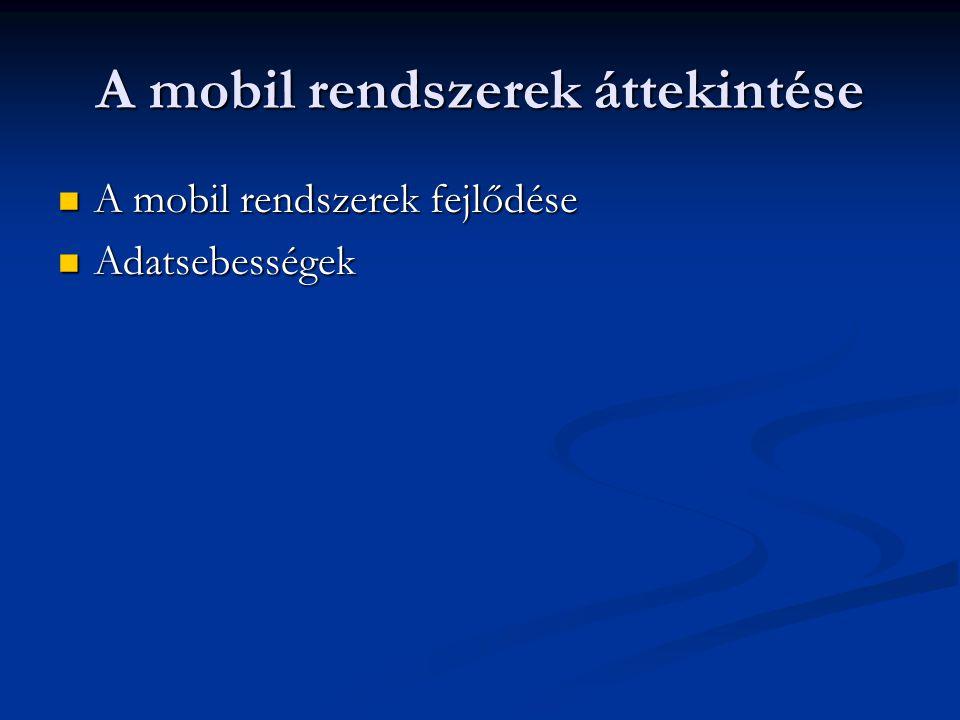 A mobil rendszerek áttekintése