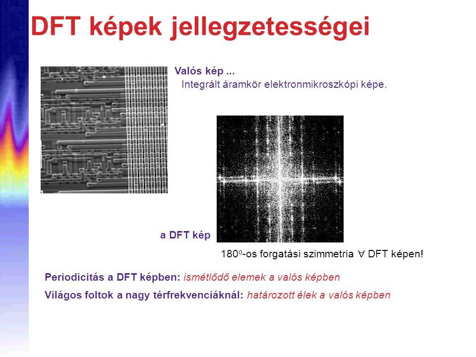 DFT képek jellegzetességei