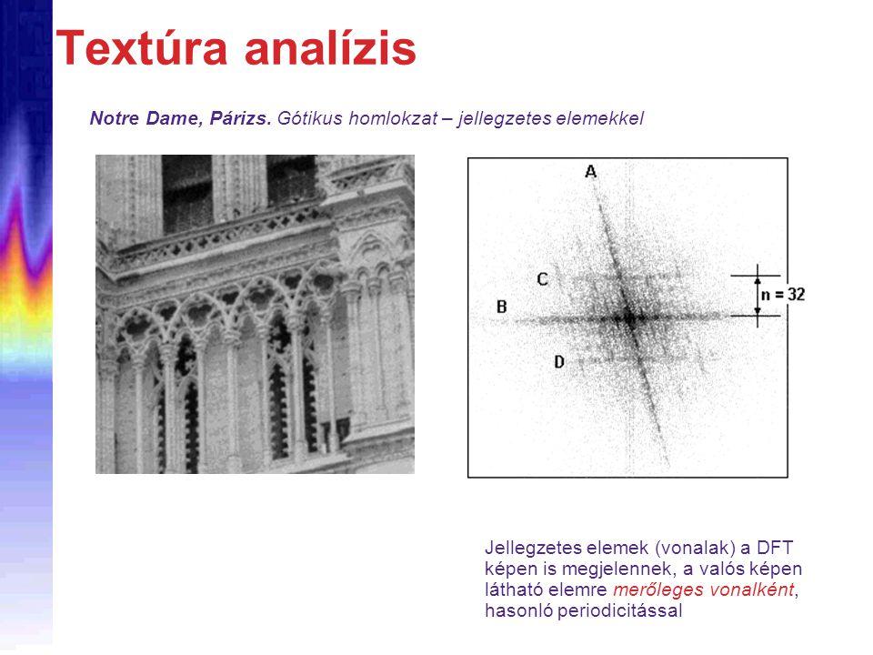 Textúra analízis Notre Dame, Párizs. Gótikus homlokzat – jellegzetes elemekkel.
