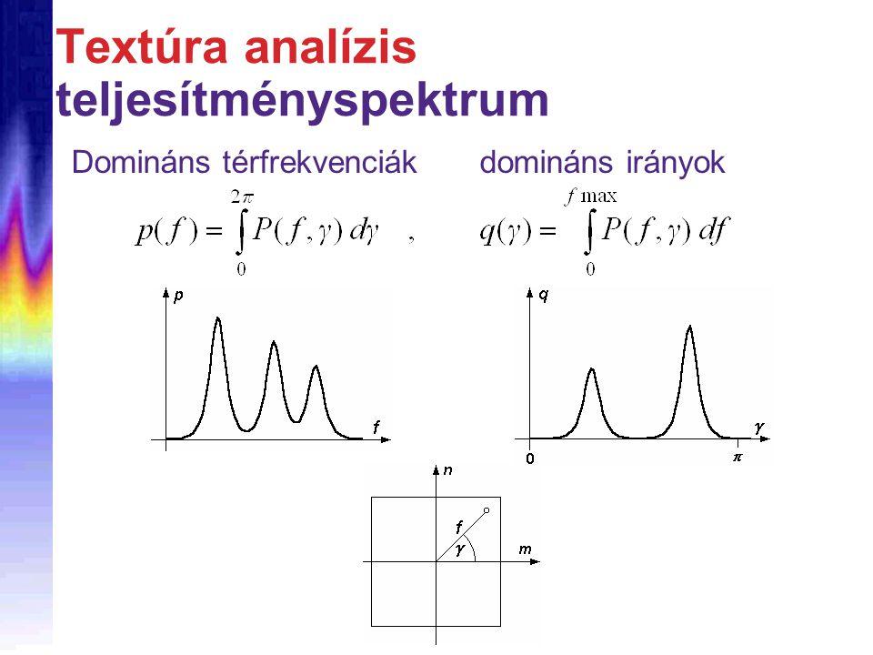 Textúra analízis teljesítményspektrum