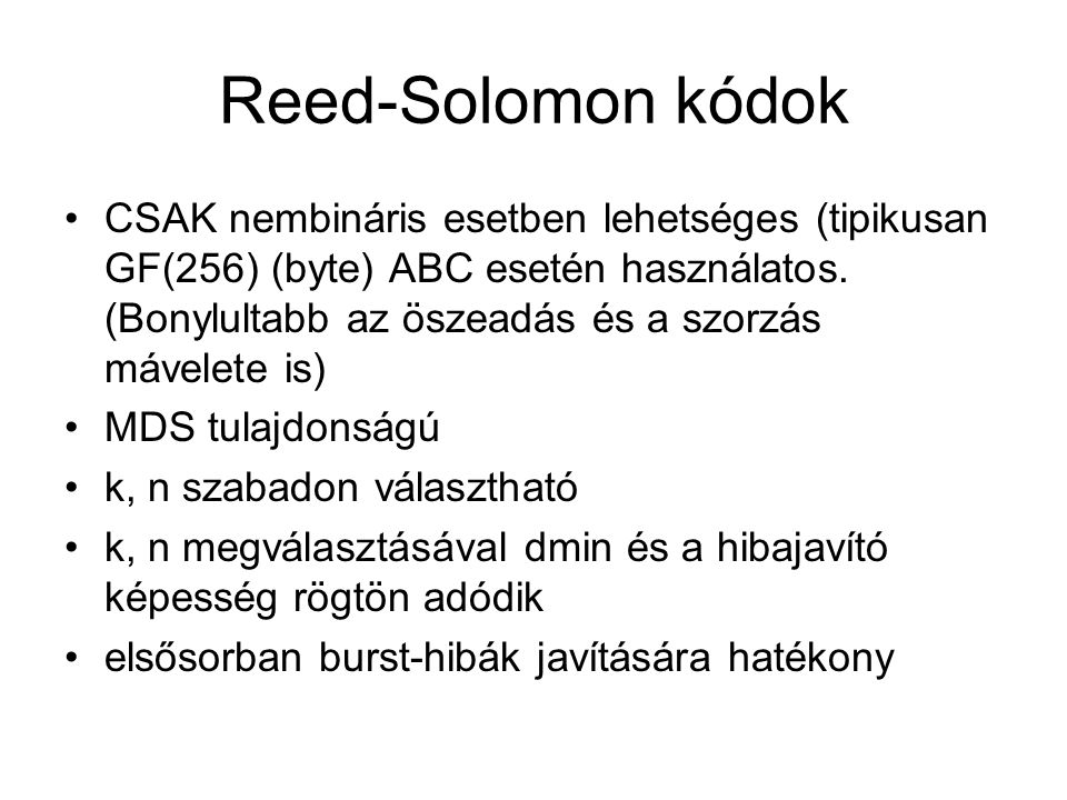 Reed-Solomon kódok