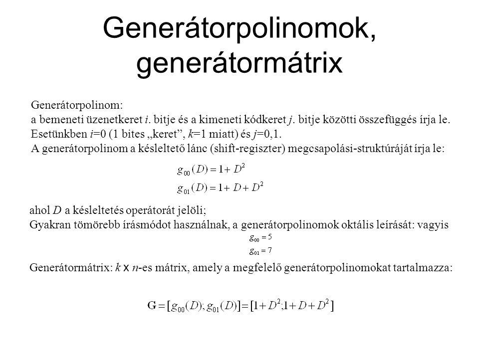 Generátorpolinomok, generátormátrix