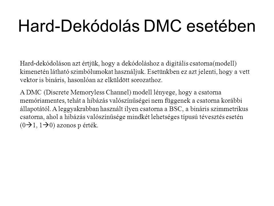 Hard-Dekódolás DMC esetében