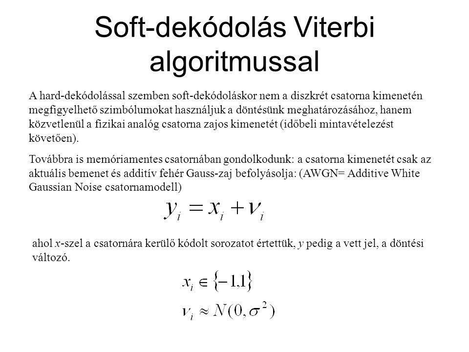 Soft-dekódolás Viterbi algoritmussal