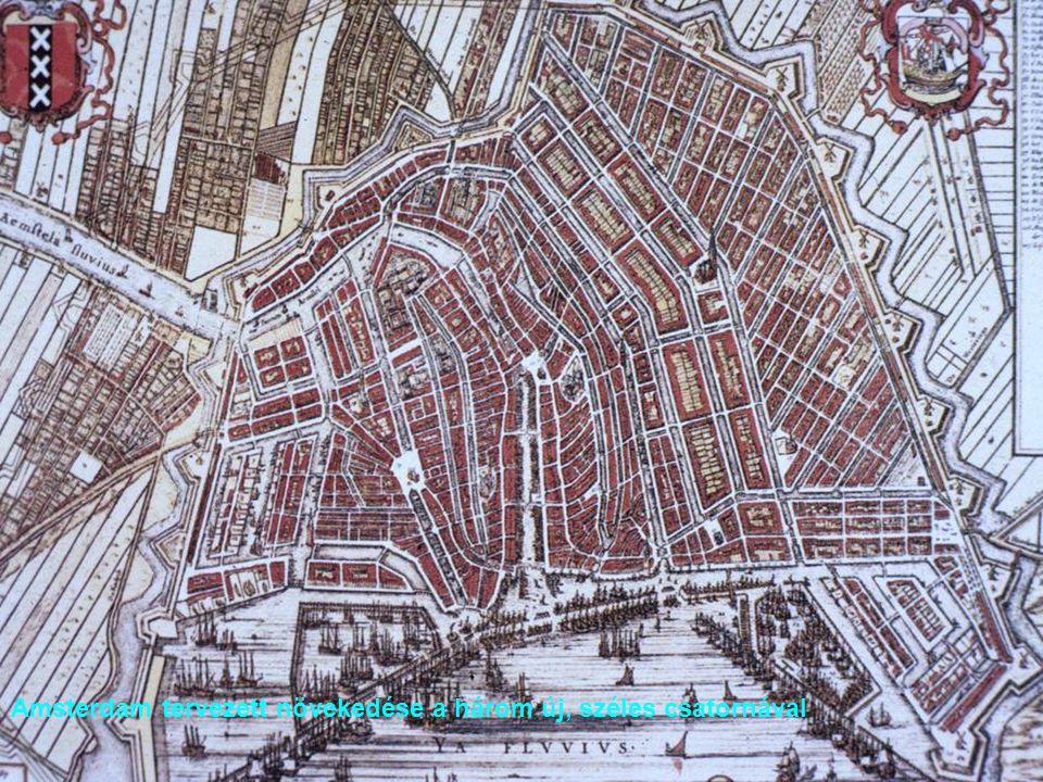 Amsterdam tervezett növekedése a három új, széles csatornával