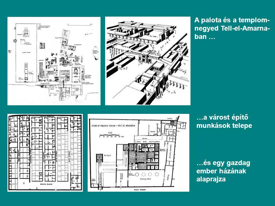 A palota és a templom-negyed Tell-el-Amarna-ban …