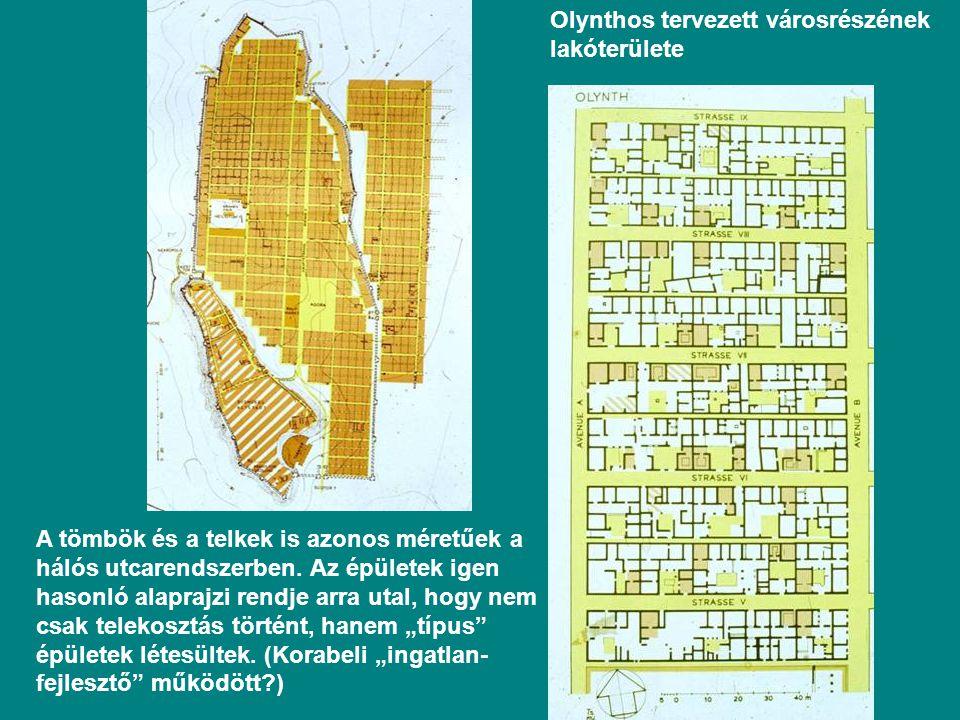 Olynthos tervezett városrészének lakóterülete