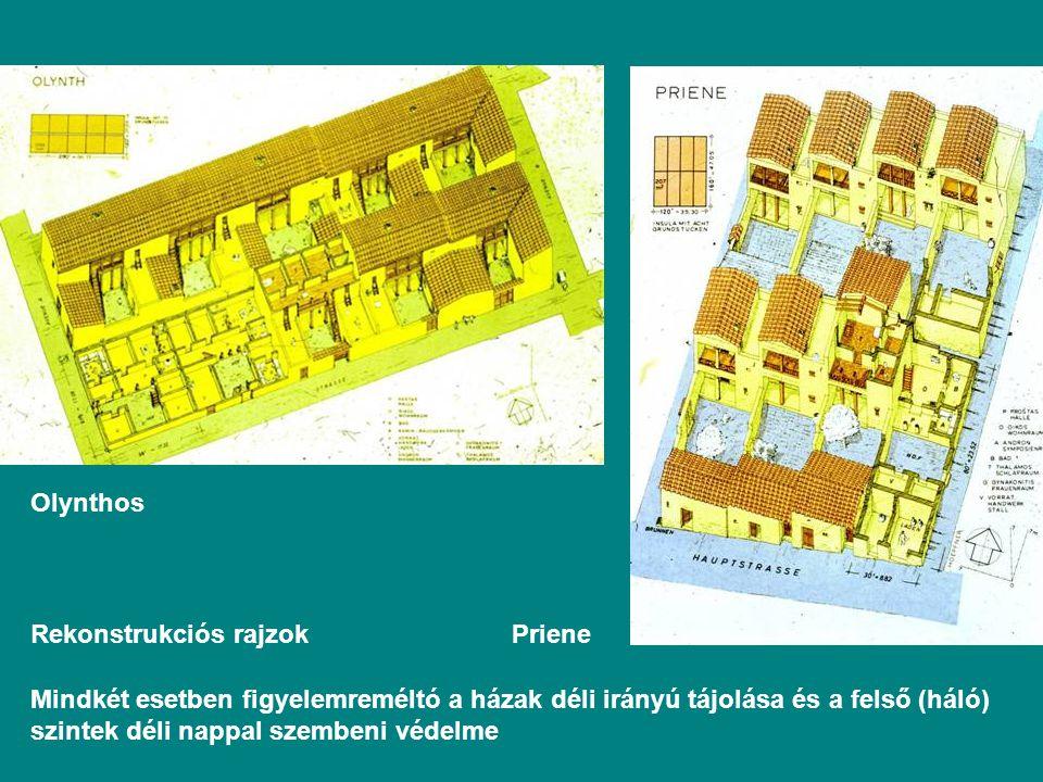 Olynthos Rekonstrukciós rajzok Priene.