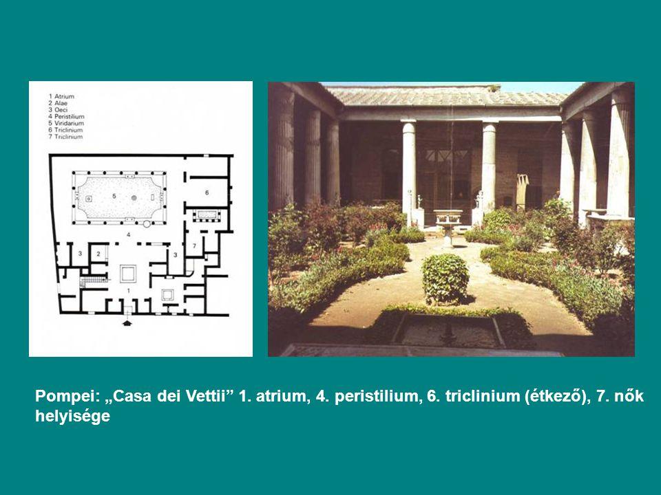 """Pompei: """"Casa dei Vettii 1. atrium, 4. peristilium, 6"""