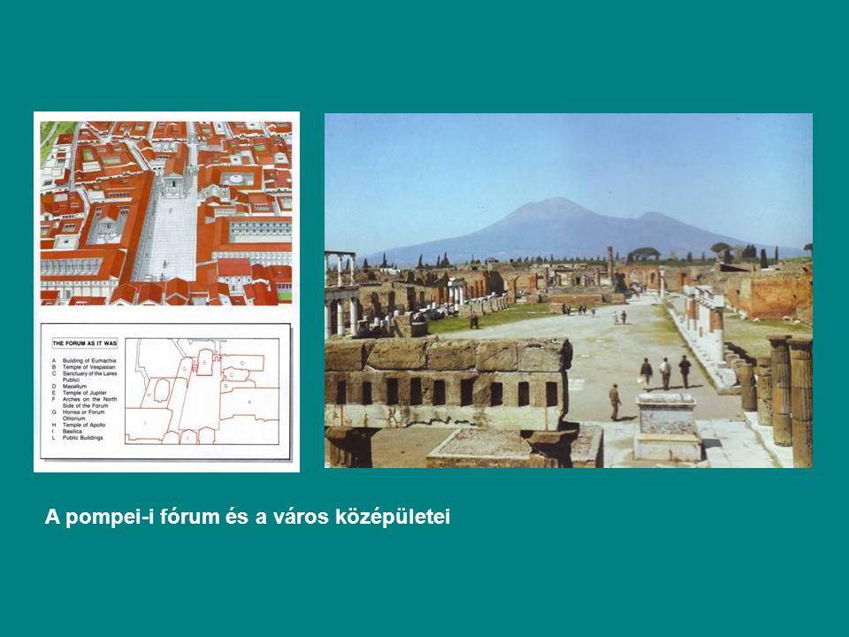 A pompei-i fórum és a város középületei