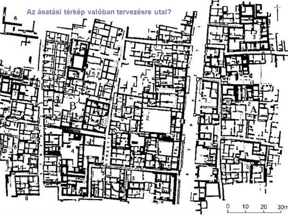 Az ásatási térkép valóban tervezésre utal