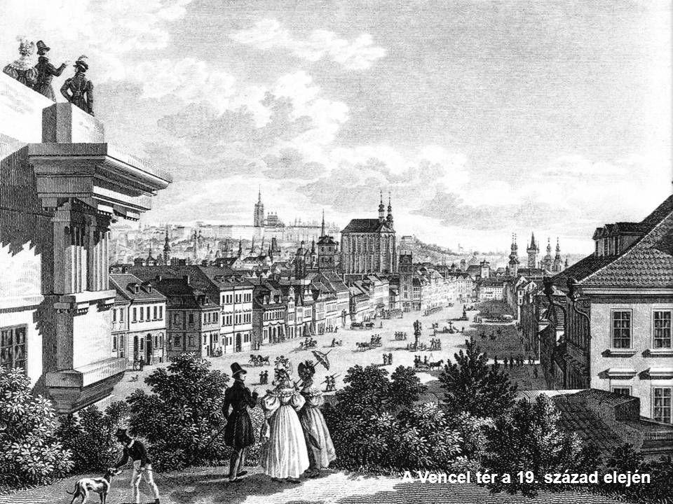 A Vencel tér a 19. század elején