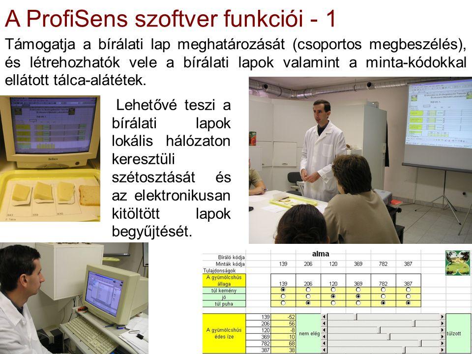 A ProfiSens szoftver funkciói - 1