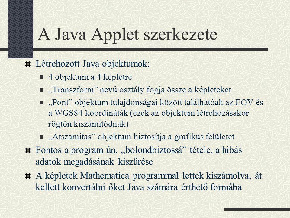 A Java Applet szerkezete